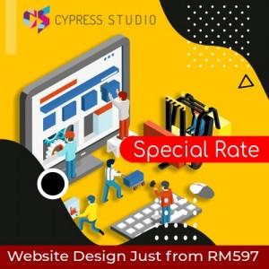Cypress Studio Chesp Website Design Banner Ad